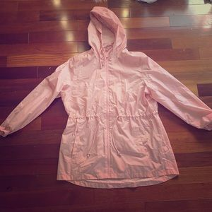 Jackets & Blazers - Pale Pink Blush Colored Rain Coat Size L